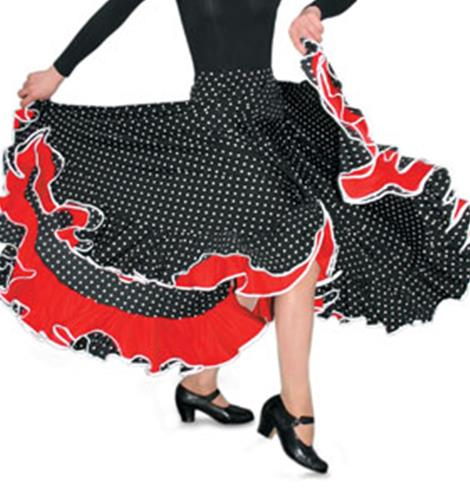 GONNA DA FLAMENCO A POIS COD.D0914 Sansha