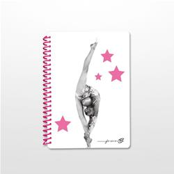 QUADERNO PICCOLO A5 A RIGHE CON STAMPA DA RITMICA COD.FBQPSR12 DANCE DISTRIBUTION
