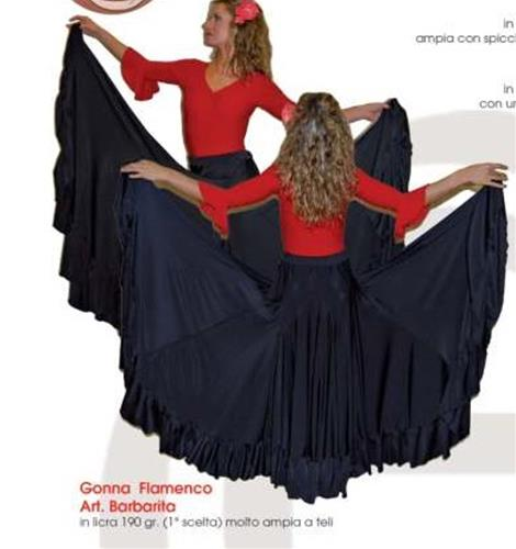 GONNA FLAMENCO DOPPIO VOLANT COD.BARBARITA Tecnodanza