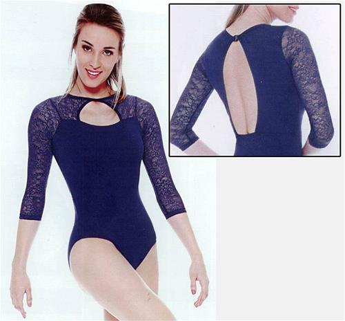 BODY MANICA 3/4 DI PIZZO COD.RDE1593 So danca